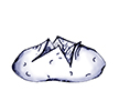 Drawing of a baked potato.
